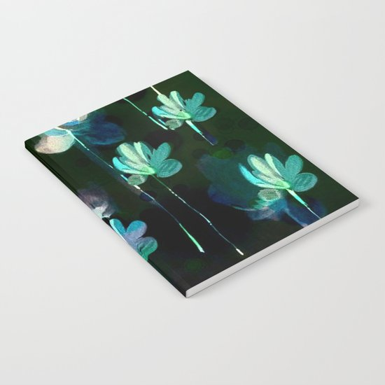 Painterly Evening Floral Abstract Notebook
