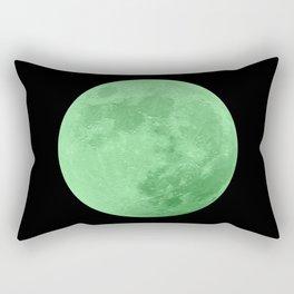 LIME MOON // BLACK SKY Rectangular Pillow