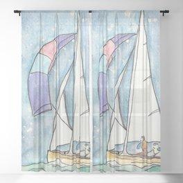 Mystic Sail Sheer Curtain