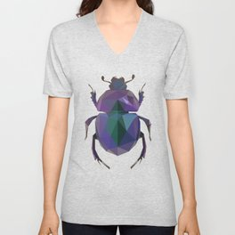 Lowpoly Dung Beetle Unisex V-Neck