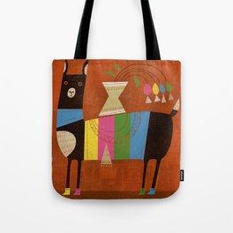 STRIPED LAMA Tote Bag