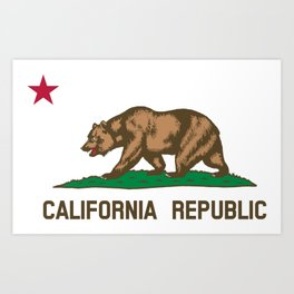 State of California Flag Art Print