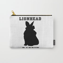 Lionhead Rabbit Silhouette Carry-All Pouch