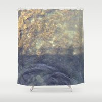 maine Shower Curtains featuring Maine Water by Christina Hand