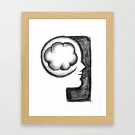 Thoughts on Cloud Framed Art Print