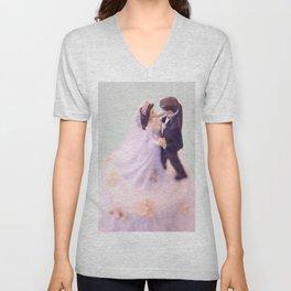 Bride and Groom - bridal shower gift or wedding gift Unisex V-Neck