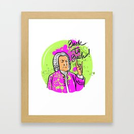 Back to Bach (neon spray paints version) Framed Art Print