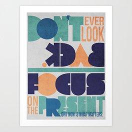 Don't Look Back! Art Print