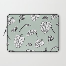 Swiss Cheese Plant Leaves Laptop Sleeve