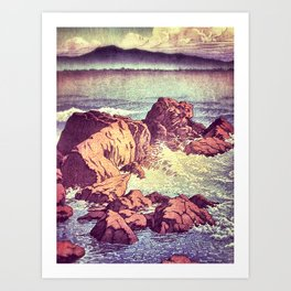 Stopping by the Shore at Uke Art Print