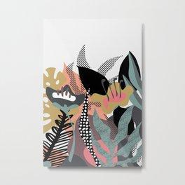 Flower Tropical Art Metal Print