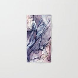 Slate Purple and Sparkle Flowing Abstract Hand & Bath Towel