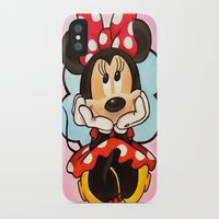 minnie mouse iPhone & iPod Cases featuring Minnie  by Diego Navarro