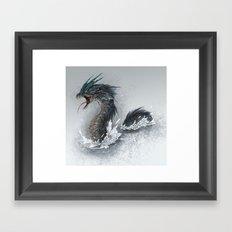water dragon  Framed Art Print