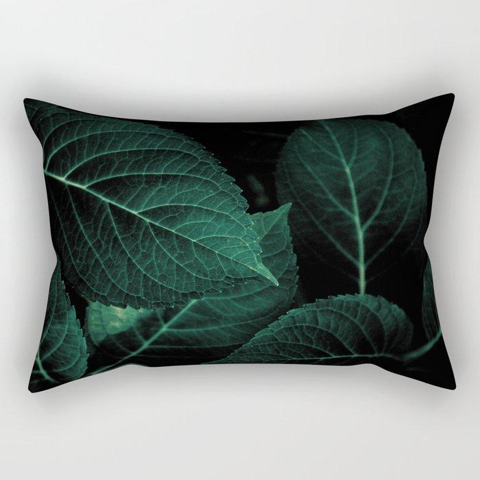 Dark Leaves I Rectangular Pillow