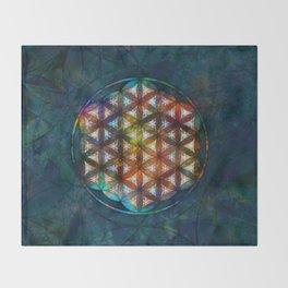 The Flower of Life Symbol Throw Blanket
