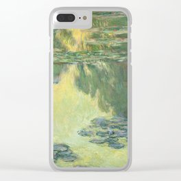Claude Monet Water Lilies Impressionist Painting Clear iPhone Case