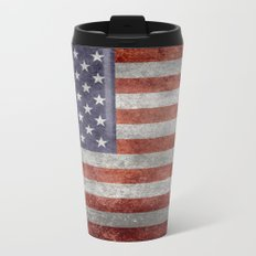 USA flag, High Quality retro style Metal Travel Mug