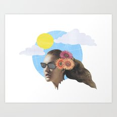 Head Collage Art Print