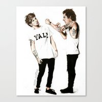 larry Canvas Prints featuring Larry by Sam Coffee