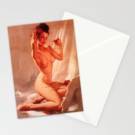 Self Love Pin-up Girl by Gil Elvgren Stationery Cards