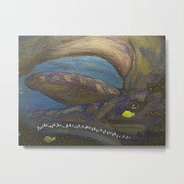 "sea monster""via Creation"" Metal Print"
