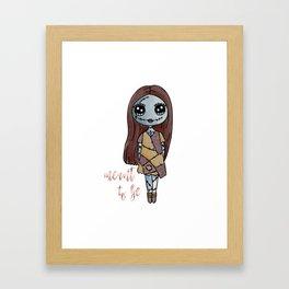 Sally, Nightmare Before Christmas Framed Art Print