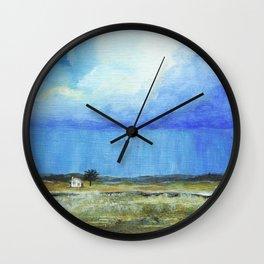 A Perfect Storm, Abstract Landscape Art Wall Clock