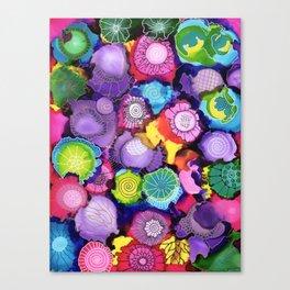 Purple doodle Canvas Print