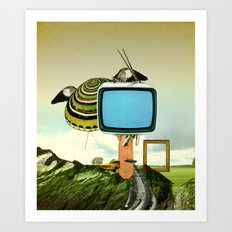 Waiting for Magritte Art Print