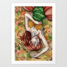 Autumn Girl Kunstdrucke
