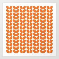 leaves - orange Art Print