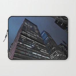 Modern buildings in New York City Manhattan at Night Laptop Sleeve