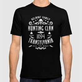 Geeky Gamer Chic Castlevania Inspired Belmont Family Hunting Clan T-shirt