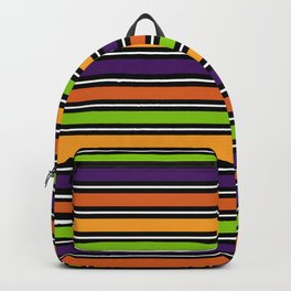 Modern colorful halloween October 31 abstract stripes Backpack