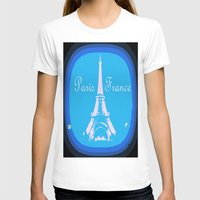 france T-shirts featuring Paris France by Whimsy Romance & Fun