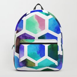 Blue Hexagons Backpack