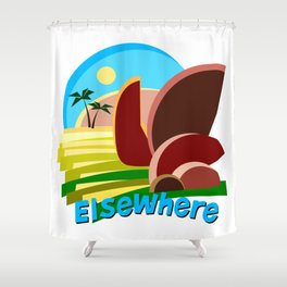 Tropical Elsewhere Shower Curtain