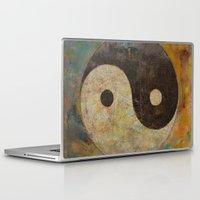 yin yang Laptop & iPad Skins featuring Yin Yang by Michael Creese