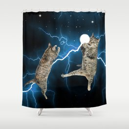 CAT FIGHT  Shower Curtain