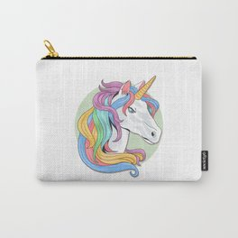 Ranbow Hair Unicorn Carry-All Pouch