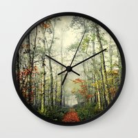 forrest gump Wall Clocks featuring Gump by Slight Clutter