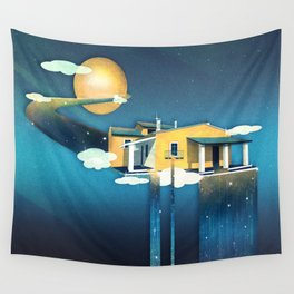Castle in Heaven Wall Tapestry