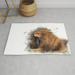 A Roaring Picture Rug