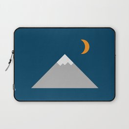 Mountain and Crescent Moon Illustration Laptop Sleeve