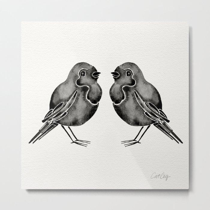 Little Blackbirds Metal Print