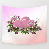 romance Wall Tapestries featuring Romance by Tatiana