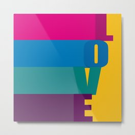 The love is colorful Metal Print