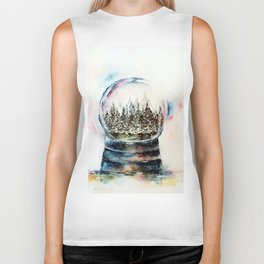 Snow globe - watercolour illustration Biker Tank
