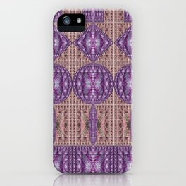 Linear Arrangements of Colorful Secure Lockers iPhone Case